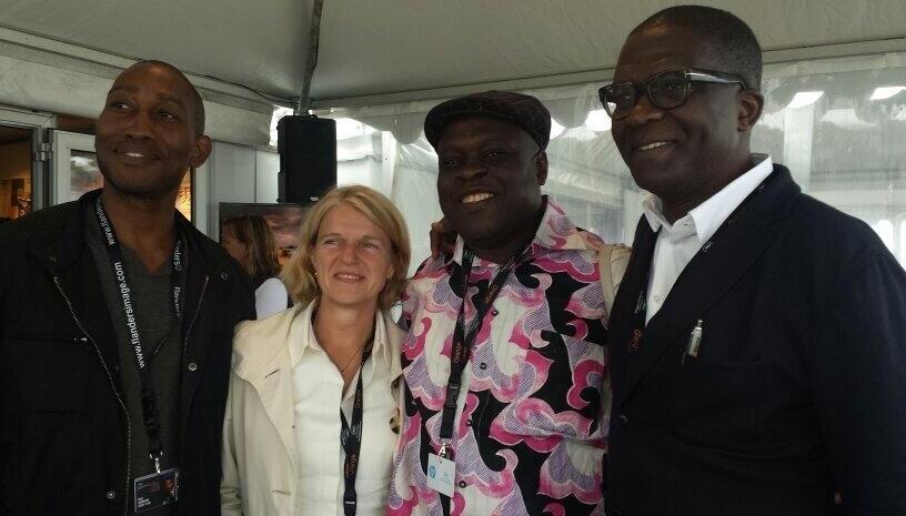 Dayo Ogunyemi with Dorothee Wenner, Shaibu Husseini and Keith Shiri