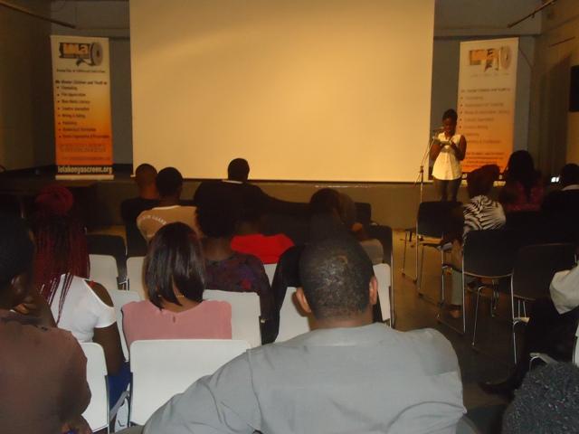 announcements during lola kenya screen film forum at goethe-institut, nairobi, kenya