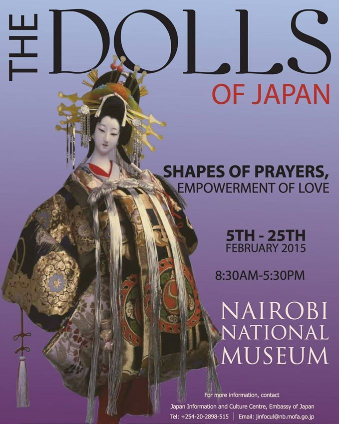 dolls of japan art exhibition at nairobi museum