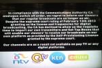 ktn, citizen tv, ntv, qtv's onscreen announcement