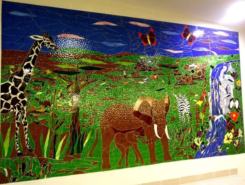 beatrice ndumi's glass mosaic,The beautiful habitat beyond horizons