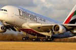 emirates airline aircraft takes off