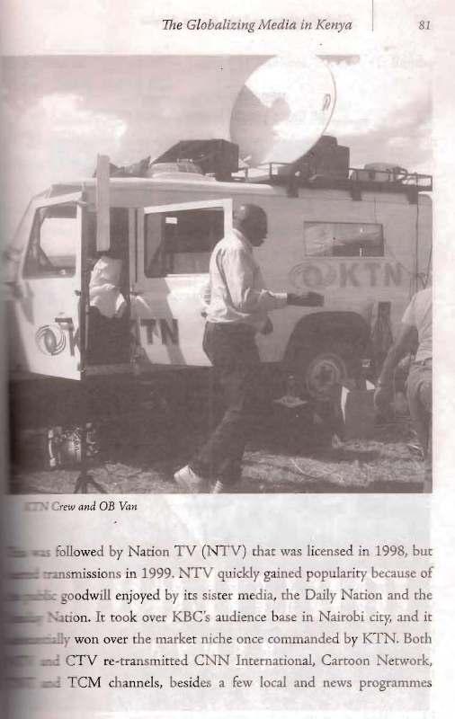 ktn television's outside broadcasting van