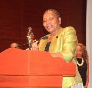 Culture Minister Dr Fenela Mukangala receives president kikwete's Tribute Award