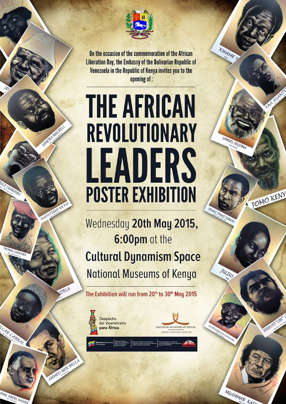 Venezuela Celebrates African Revolutionary Leaders with Posters at Nairobi National Museum