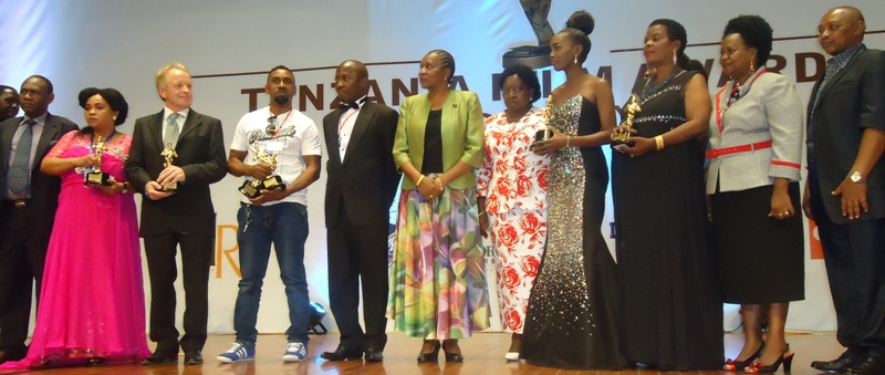 Tanzania Film Awardees with Culture Minister Dr Fenella Mukangara