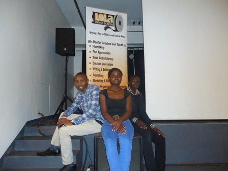 Ken Wambui, Daisy Okoti, Edwin Amoro of Lola Kenya Screen