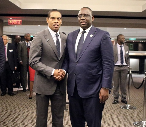 Dr Álvaro Sobrinho, Planet Earth Institute Chair,  launches the PASET Regional Scholarship & Innovation Fund with Macky Sall, President of Senegal