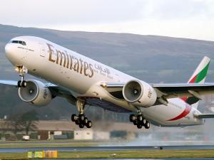 Emirates Airlines passenger plane