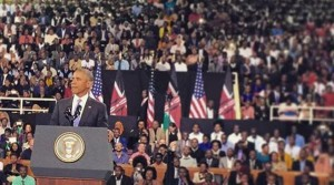 Barack Obama, US President,  addresses Kenyans as he wraps up landmark visit
