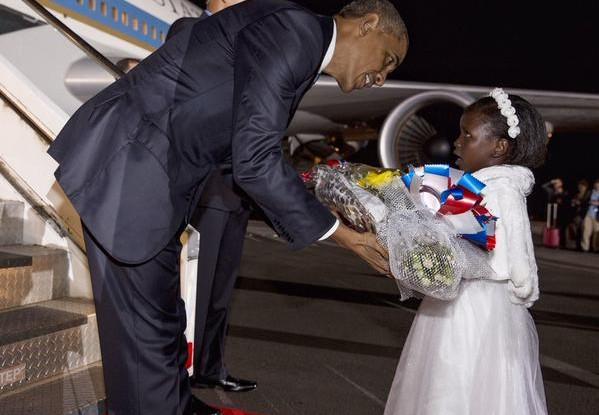 Barack Obama, US President , lands at Jomo Kenyatta International Airport