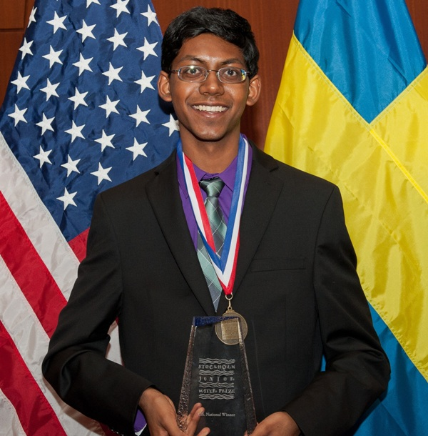 American Teenager wins 2015 Stockholm Junior Water Prize
