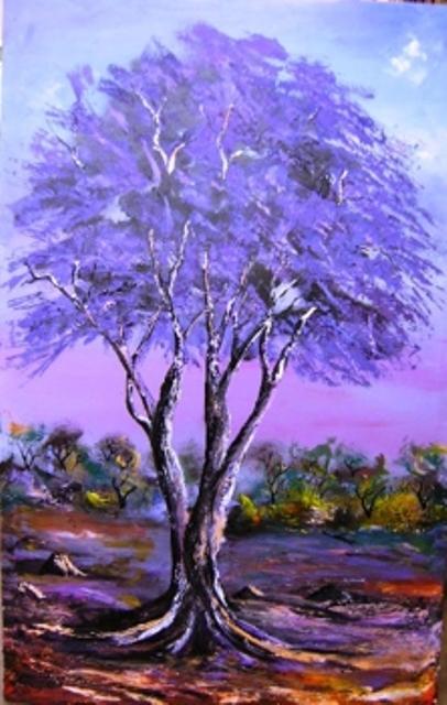 Painting by Joseph Muchina, Karen Blixen Museum, Nairobi, kenya