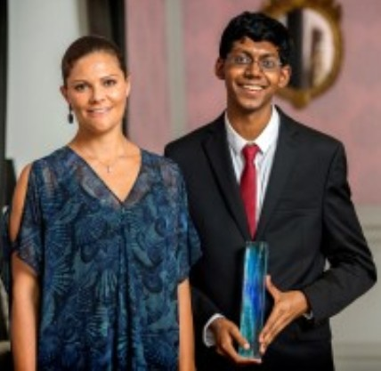 Perry Alagappan poses with HRH Princess Victoria of Sweden