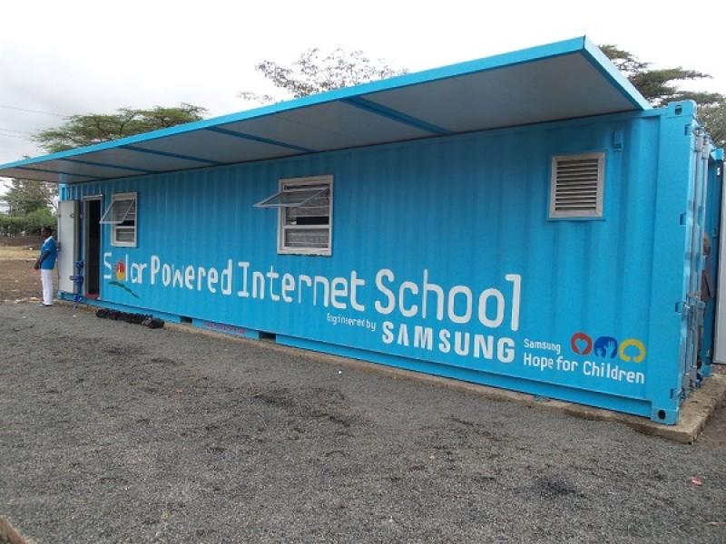 samsung's solar powered internet school