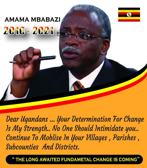 Opposition presidential candidate Amama Mbabazi challenges President Museveni in 2016
