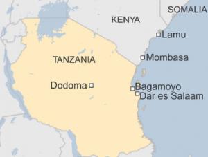 Dar es Salaam, Bagamoyo, Mombasa, Lamu ports
