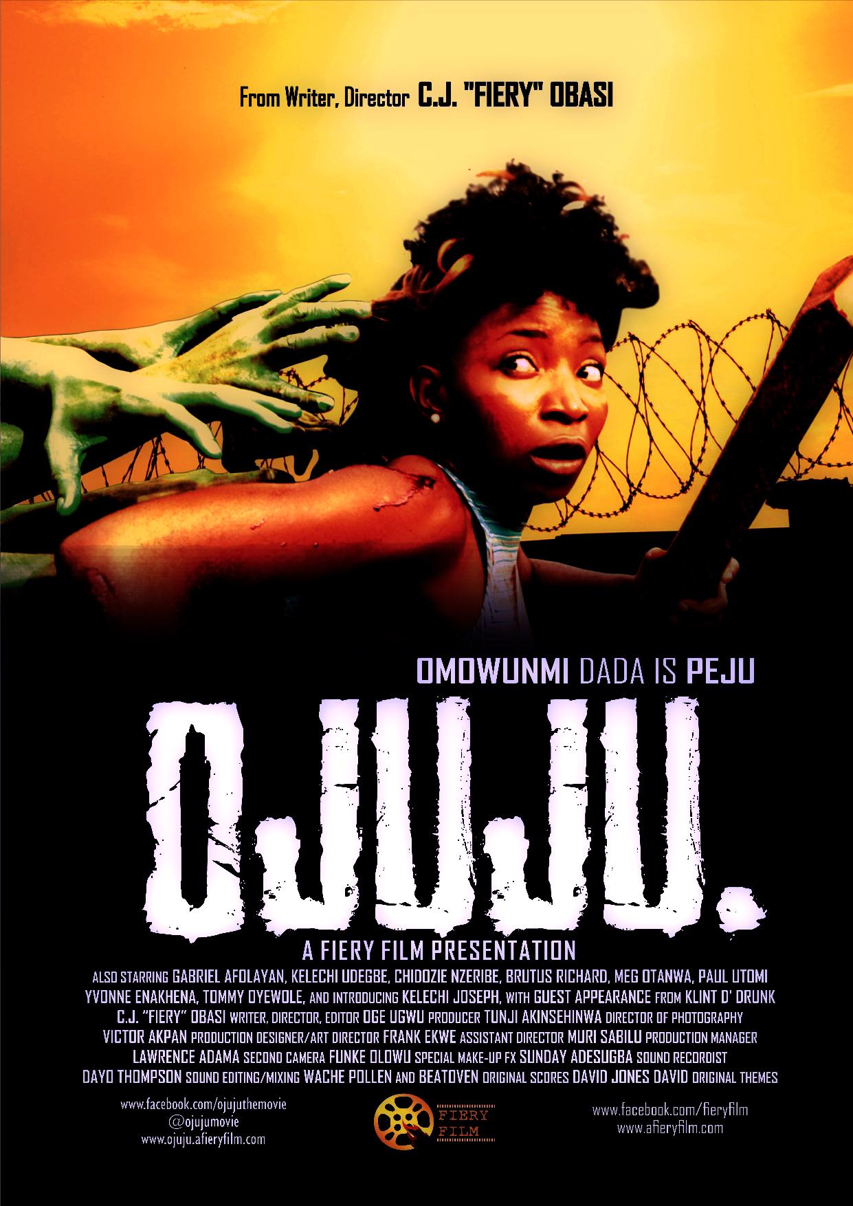 Nigerian CJ Obasi's  OJUJU horror film poster