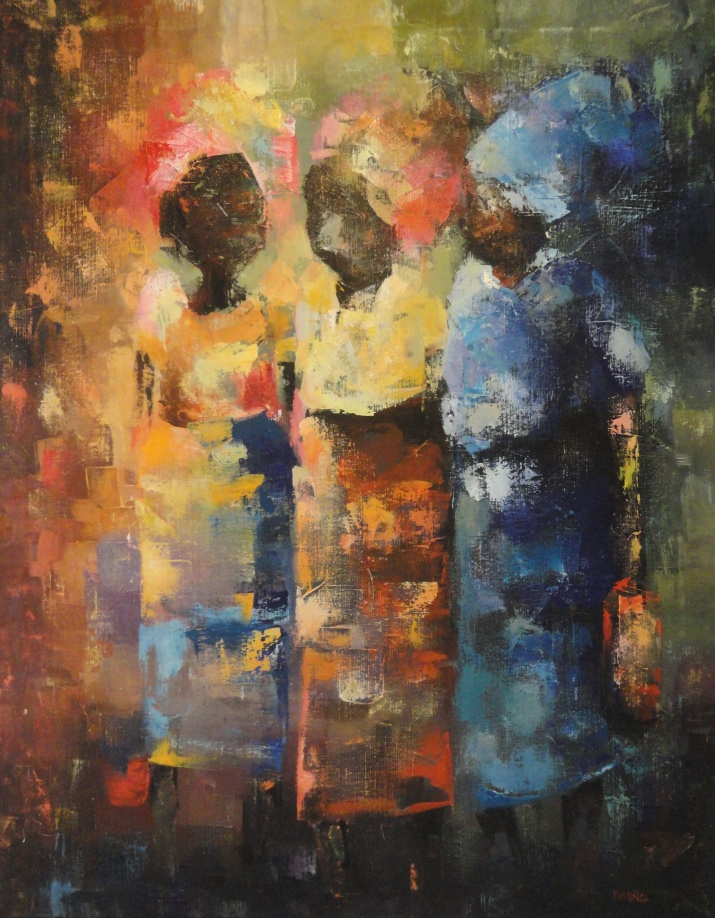 Ugandan Artist Godrey Kalungi at Nairobi National Museum Exhibition