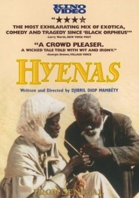 Senegalese Djibril Diop Mambety's HYENES/Hyenas poster