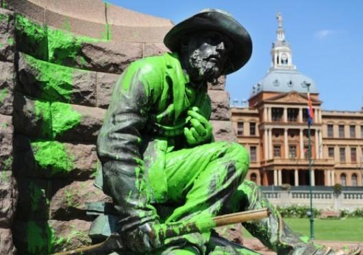 Paul Kruger statue, church square, pretoria, south africa