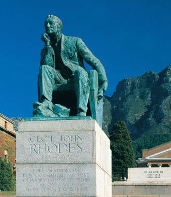 Cecil Rhodes statue, university of cape town, cape town, south africa