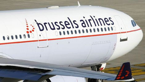 brussels airlines passenger plane