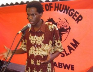 A House of Hunger Poetry Slam in session in Harare, Zimbabwe