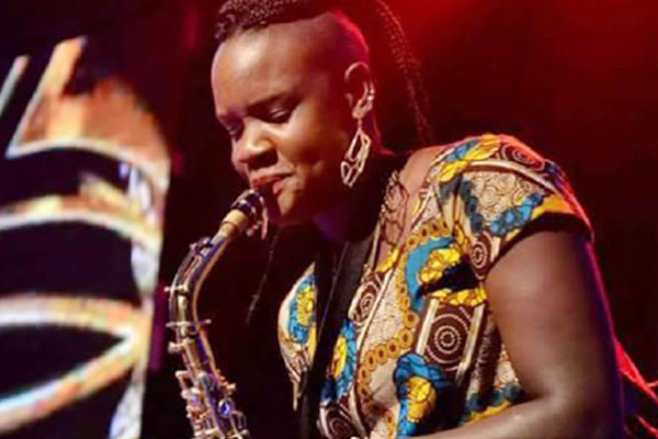 Maureen 'Mo Roots' Rutabingwa plays saxophone for Uganda's Qwela and Soul Deep bands