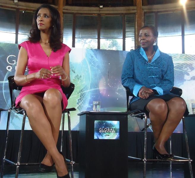 Zainab Badawi and Louise Mushikiwabo in Nairobi