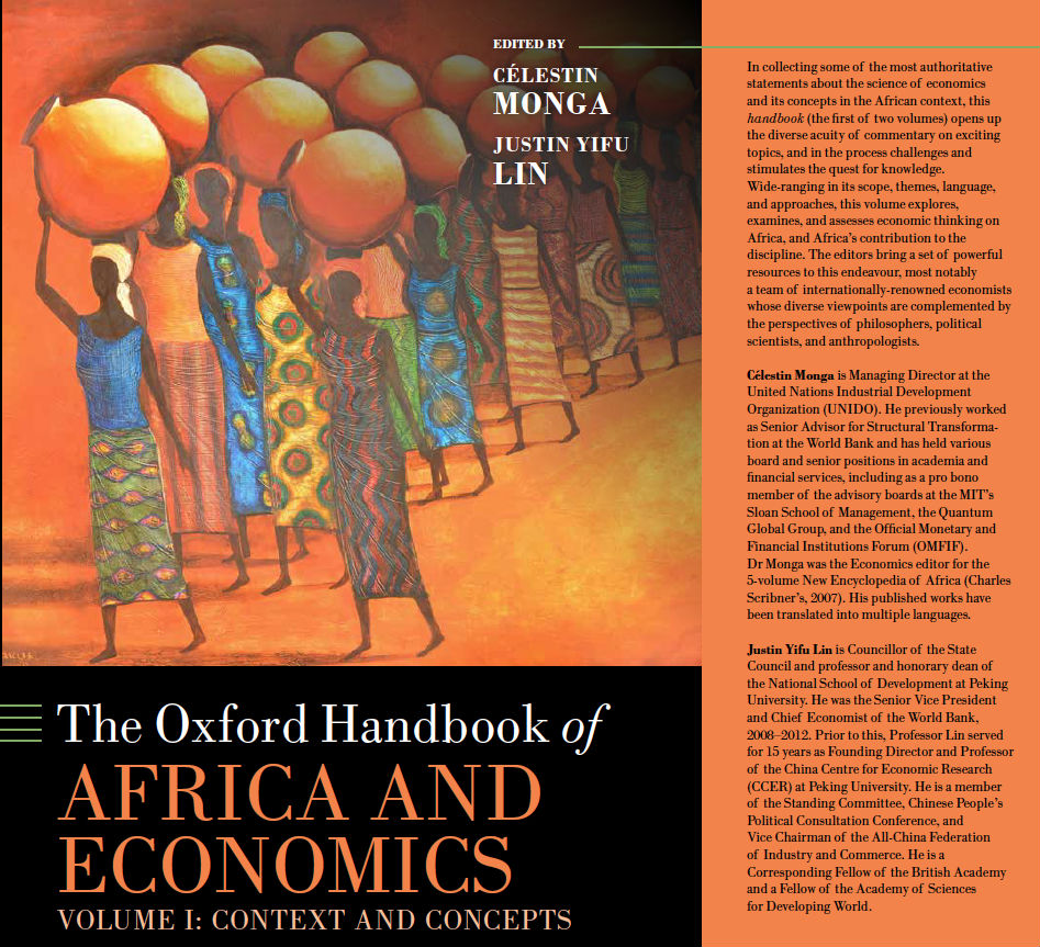 Cameroonian Celestine Monga-edited The Oxford Handbook of Africa and Economics 1