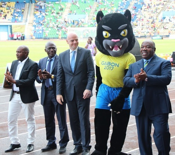 African Cup of Nations 2017 Mascot revealed before FIFA President Gianni Infantino, CAF President Issa Hayatou and Gabon's football federation officials