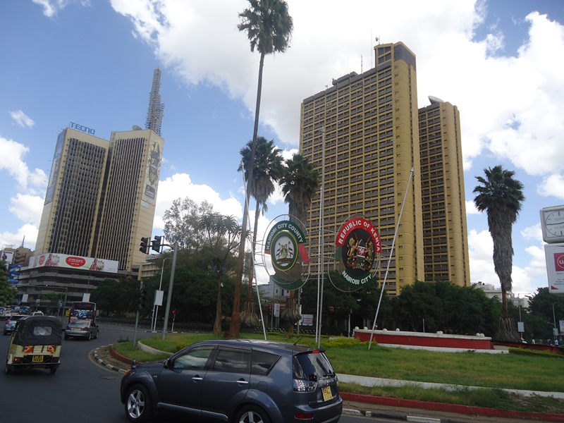 Uhuru Highway-Kenyatta Avenue junction in Nairobi, Kenya