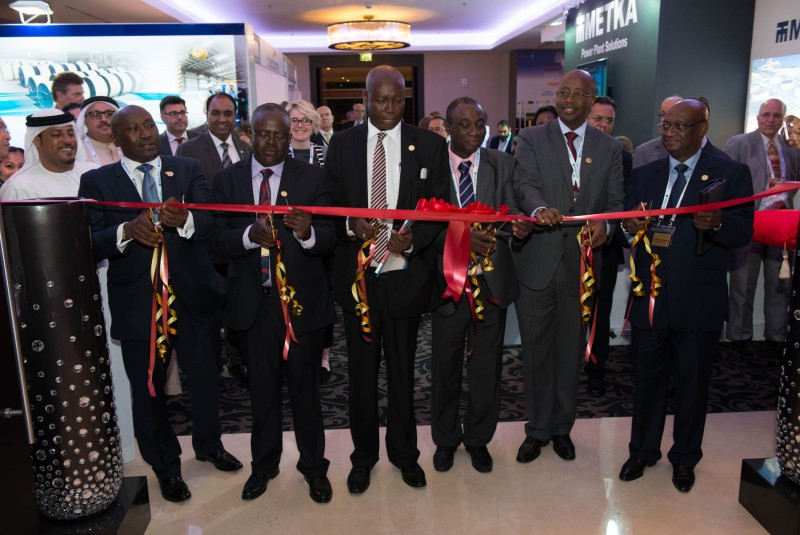 African Ministers Dr Kwabena Donkor, Ghana; Mamadou Frankaly Keita, Mali; James Musoni, Rwanda; Simon Dujanga, Uganda; Henry Macauley, Sierra Leone; Charles Zulu, Zambia; officially open the 2015 Forum