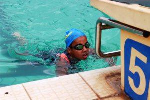 Swimming in Team Tri Fit's Triathlon and Duathlon