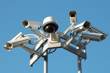 CCTV surveillance cameras, part of Kenya Police's IC3 security system for for live-streaming