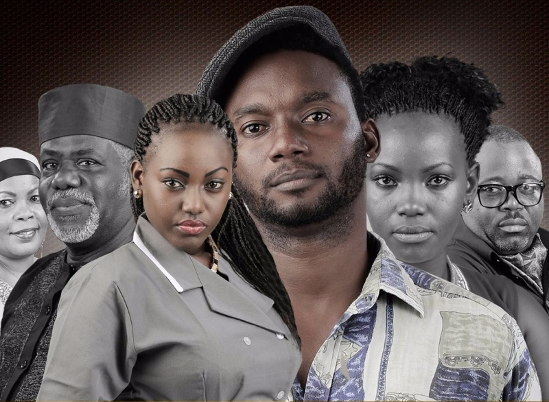 Members of the cast of NIRA TV series in which Queeny Wambui Mwangi appears as Maria the domestic servant.