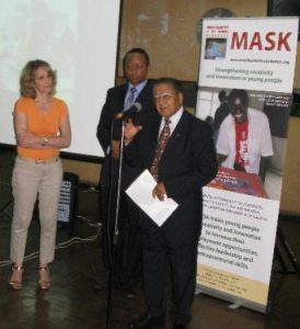 Manu Chandaria, a Kenya-based industrialist, presides over a past awards ceremony of MASK in Nairobi.