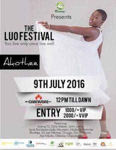 LuoFest 2016 publicity poster