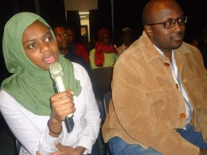 Imaan Jemimah shares insights during Lola Kenya Screen film forum, Nairobi's monthly film screening, discussion and networking gathering