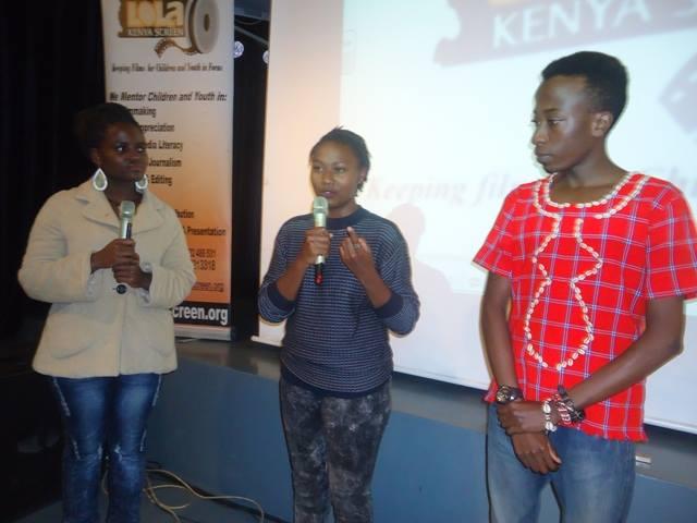Mirror Cut Projects' Lawrence Nduati and Fath Wanjiru at 94th Lola Kenya Screen film forum
