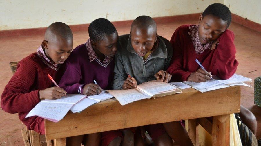 Boys in a Kenyan classroom