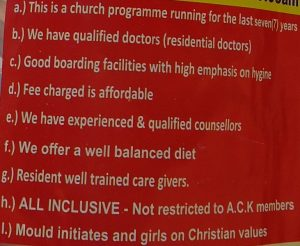 The Anglican Church of Kenya markets its rite of passage programme as being safe and competitive.