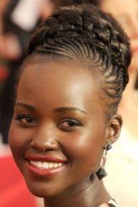 Academy Award-winning actress Lupita Nyong'o wears natural African hair.