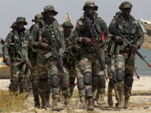 Troops from the Economic Community of West African States (ECOWAS) enter The Gambia to force Yahya Jammeh to hand power to the duly elected Adama Barrow who was forced to be sworn into office in neighbouring Senegal