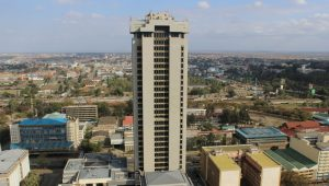 Times Tower, the headquartes of the Kenya Revenue Authority, is currently the tallest building in Kenya.