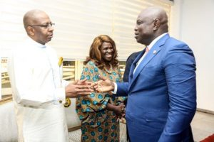 Governor Akinwumi Ambode of Lagos State receives Africa Movie Academy Awards delegation.