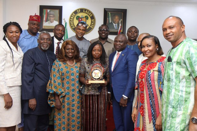 Akinwumi Ambode, the Governor of Lagos State,with AMAA  delegation at Lagos House, Ikeja, Lagos, Nigeria.
