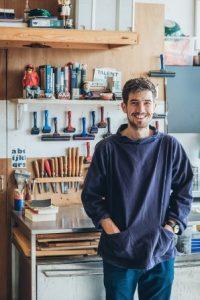 Alex Booker in his studio
