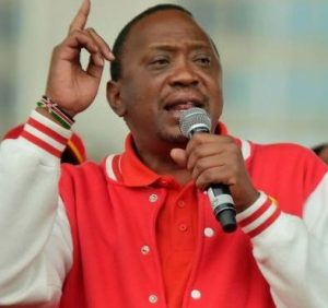 Uhuru Kenyatta, the incumbent whose Jubilee Government is accused of not doing much in the fight against runaway corruption,